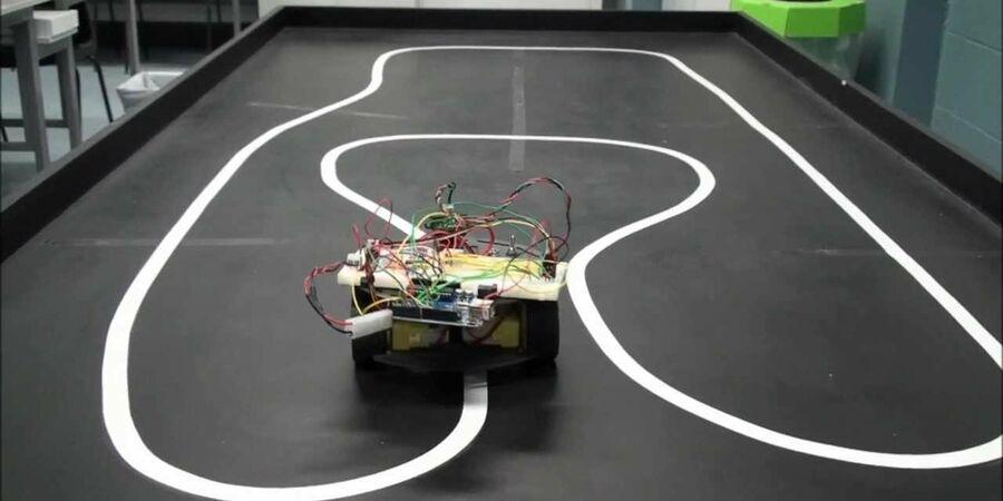 fablab confection d 39 un robot suiveur de ligne par les l ves du coll ge de la marquisanne en. Black Bedroom Furniture Sets. Home Design Ideas